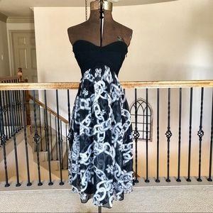 Diane Von Furstenberg Asti Strapless Silk Dress